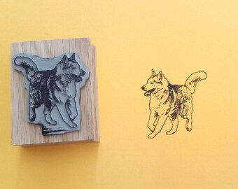 Siberian Husky Rubber Stamp