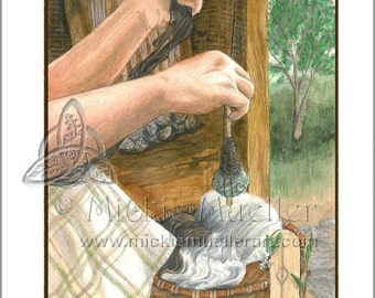 Spindle Card Giclee Print