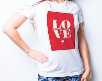 Love t shirt Lovet shirt Love shirt Love tank Heart shirt red