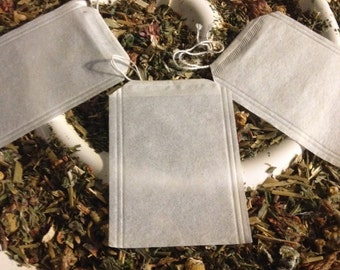 Empty Fillable Loose Leaf Tea Bags 100 Ct