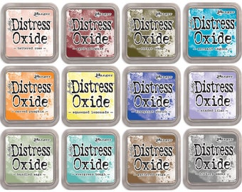 Tim Holtz Distress Oxide 2018 FREE SHIPPING, Release ink Pads Set Of 12 New Release 2018 Ranger, Distress Oxide by Ranger, Tim Holtz Oxide