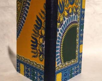 Dashiki Cloth Blank Book: Yellow, Blue, Green