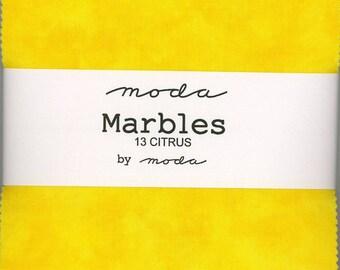 Marbles Citrus Charm Pack, Set of 42 5-inch Precut Cotton Fabric Squares (9880PP-13)