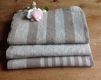 Linen hand towels / kitchen towels / tea towels / linen towels/ stripe towels