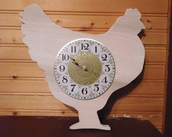 Hen Clock, kitchen, kids room