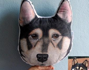 Custom Pet Portrait  Pillow Plush, Shiba Inu Dog Pillow, Personalized  gift for pet lovers, dog portrait, cat portrait