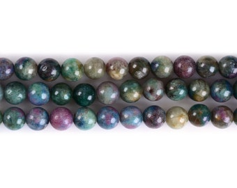 "6MM311 Ruby Fuchsite round ball loose gemstone beads 16"""