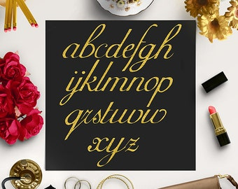 GOOD TYPE / Gold Glitter Alphabet Clipart / Gold Glitter Letters / Glitter Alphabet Clip Art / Gold Alphabet Letters / Coupon Code: BUY5FOR8