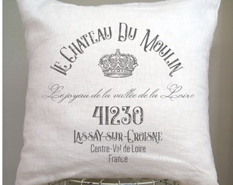 French Pillow Cover. French Country Pillow Cover. Crown Pillow. Shabby Chic Pillow. Modern Farmhouse. French Antiques.