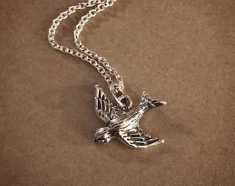 Swallow Necklace - Sterling Silver
