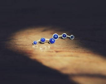 Lapis Lazuli Sterling Silver Ear Climbers