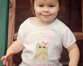 Big Sister Owl Shirt - Big Sister Shirt - Big Sis Shirt - Big Brother Shirt - Little Sister or Brother Shirt