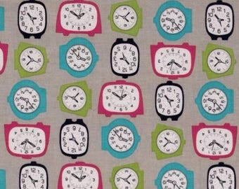 Mini clock by Riley Blake 54cmx22 cm patchwork fabric coupon