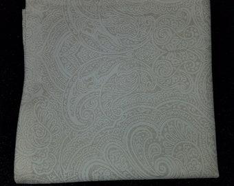 White Damask Print Pocket Square