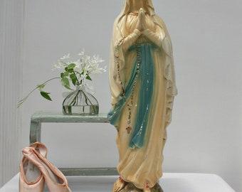 Large / Virgin Mary Statue / French Nordic Decor / Religous Statue / Madonna Statue / Catholic Statue / Mother Mary Statue / Religous Decor