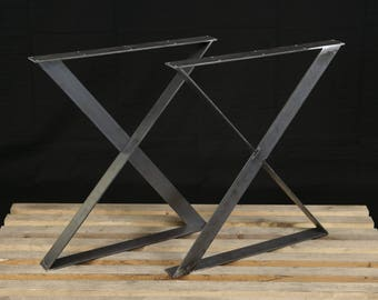 Dining table legs etsy steel table legs x style watchthetrailerfo