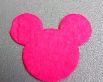 Mickey 30x35mm Fuchsia felt applique