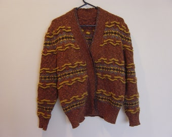 vintage slouchy novelty cardigan sweater