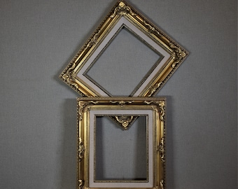 8x10 Frame Ornate Gold Wood with Optional Glass and Matting Complete Kit