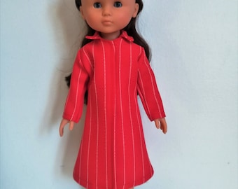 "Handmade Doll Clothes Coat fits 13"" Corolle Les Cheries Dolls Christmas A"