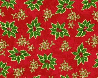 Cotton Fabric, Holiday Fabric, Christmas Fabric, Winter Bliss 3250-88 Cotton Fabric- Quilting and Sewing~1/2 yard cuts