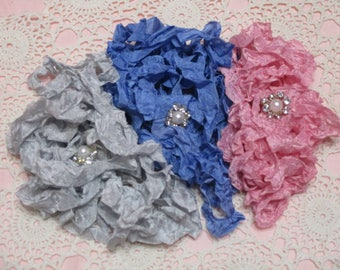 15 yards of Pretty Ribbons-BLISS-Seam Binding-Crinkled-ATC-Supplies