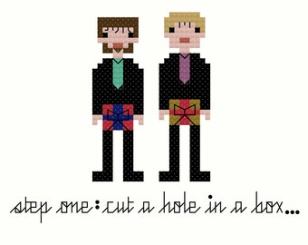 D*ck In A Box SNL Cross Stitch Pattern INSTANT DOWNLOAD