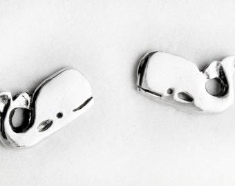 Whale Sterling Silver Post Earrings