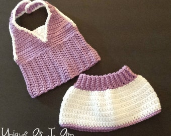 PATTERN ONLY...Crocheted Baby Girl Golfer Set Patterns