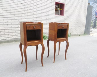 Pair of french Louis XV style side tables nightstands