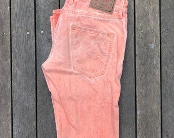 Jahrgang 90er Guess Jeans USA Pastell Peach Stonewashed Unises 32W 32 L Denim Jeans Retro Hip Hop Guess Jeans Festival Streetwear Pastell Denim