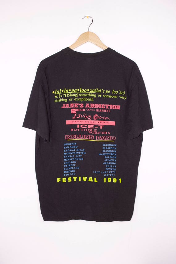 1991 LOLLAPALOOZA shirt vintage janes addiction siouxsie