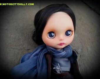 "Jyn Erso Custom OOAK Blythe Doll by Sandra Coe (Custom #34) Star Wars Rogue One Art Doll 12"" Figure"