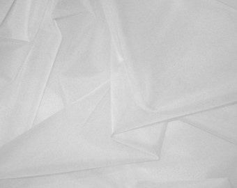 WHITE Silk Organza Fabric - 1/2 Yard