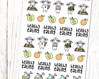 Healthy Eating (Busy Bea Collection)   Health, Diet, Loose Weight, Planner Stickers