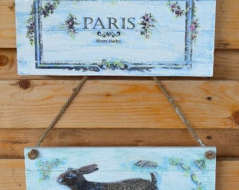 French Country Wooden Garden Sign