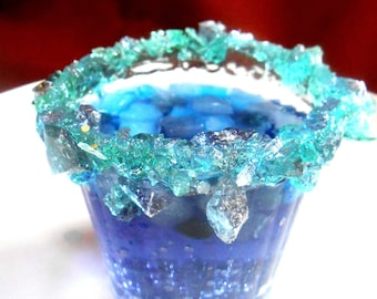 FROZEN BIRTHDAY PARTY, Chunky Rock Sugar, Candy Rimmed,Kids Party Glasses, Candied Cups, Sweetened Drinks, Elsa Party 1/2 pound