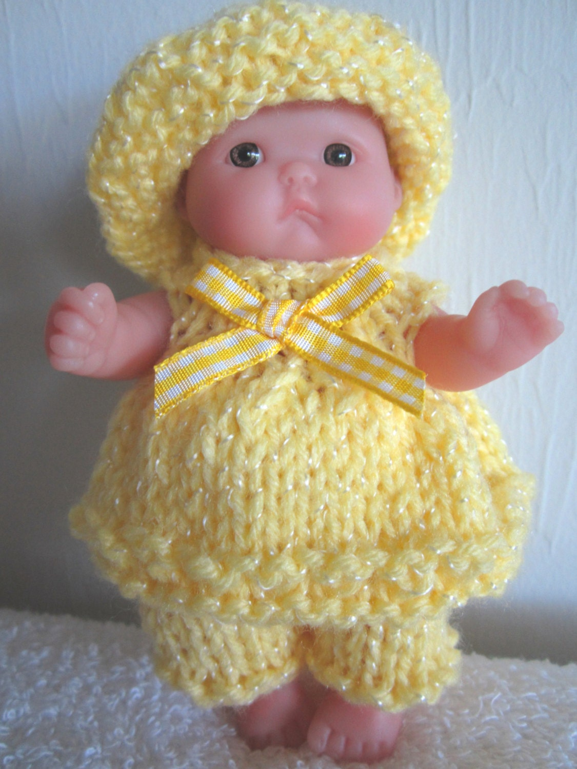 Knitting Pattern Berenguer Baby Doll Sun-kissed Set Itty Bitty dolls ...