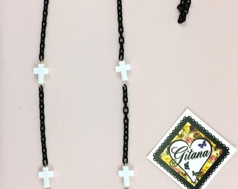 Gothic Necklaces-Goth lolita-Fairy kei Fashion-Evil-Geek-Cosplay-Halloween-Lolita-Anime-Women accessories-Necklaces- Black and White- Candy