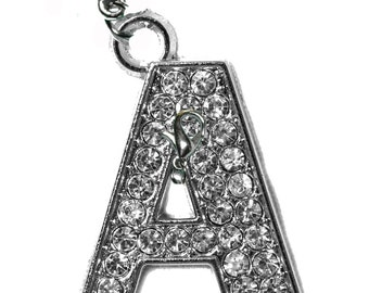 Rhinestone Letter Charms - MULTI-PACK - Your Name or Initials - Clip-On - Ready to Wear