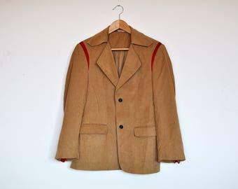 Vintage Tan Corduroy Blazer Jacket