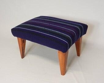 Bolivian Wool Textile Footstool