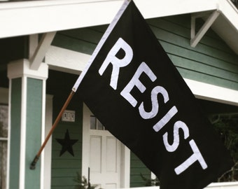RESIST Flag: Handsewn 3'x5' Resistance Protest Flag