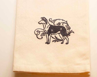 Smooth Collie Tea Towel | Embroidered Kitchen Towel | Embroidered Towel | Personalized Kitchen Towel | Dog Lovers Gift | Kitchen Towel