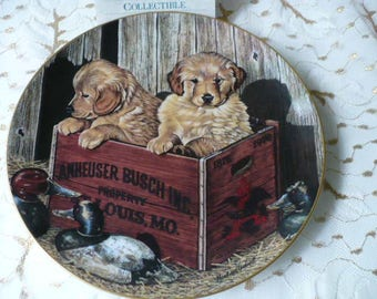 Anniversary Gift, Dog Lover's, Gift For Men, Budweiser, Wall Plate, Man's Best Friend, Buddies, Dog Lover, Gift For Dad, Gift For Husband