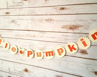 Little Pumpkin Fall Baby Shower Garland