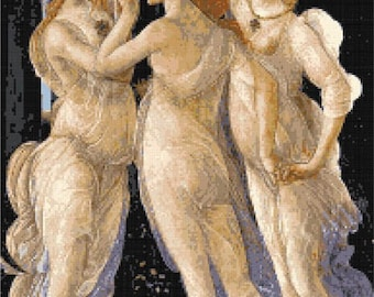 Three graces by Botticelli counted cross stitch kit