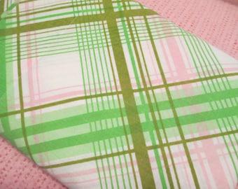 Pink & Green Striped Flat Sheet