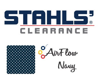 "15"" x 5 Yards - Stahls' AirFlow - Perforated HTV - Craft Roll - Iron-on Heat Transfer Vinyl - HTV - Navy Blue"