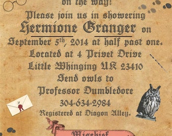 Personalized Harry Potter Baby Shower Set - Printable *Digital Documents*